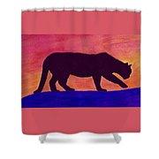Mountain Lion Silhouette Shower Curtain