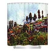 Mountain Living Impasto Shower Curtain