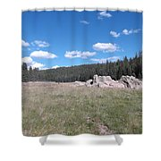 Mountain Meadow Above Cuba,nm Shower Curtain