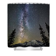 Mountain Milky Way Shower Curtain