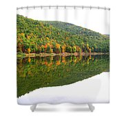 Mountain Mirror Shower Curtain