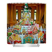 Mountain Of Christmas Cheer Shower Curtain