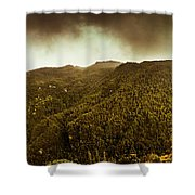 Mountain Of Trees Shower Curtain