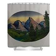 Mountain Oval Shower Curtain