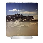 Mountain Panorama And Mist Les Gets Portes Du Soleil Morzine Haute Savoie France Shower Curtain