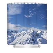 Mountain Panorama Lech Near St Saint Anton Am Arlberg Austria Shower Curtain