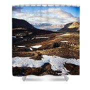 Mountain Pass In Iceland Shower Curtain
