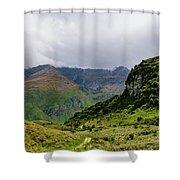 Mountain Path Horiz Shower Curtain