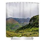 Mountain Path Vert Shower Curtain