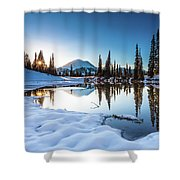 Mountain Peace  Shower Curtain