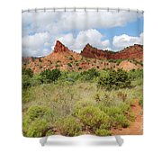 Mountain Peaks At Caprock  Shower Curtain