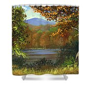 Mountain Pond Shower Curtain