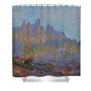 Mountain Pond Shower Curtain