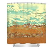 Mountain Range 2 Shower Curtain
