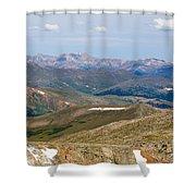 Mountain Range From Mount Evans Summit Shower Curtain