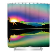 Mountain Reflections 2 Shower Curtain