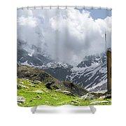 Mountain Refuge Of Mount Viso Shower Curtain