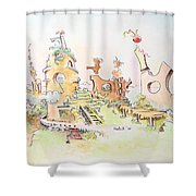 Mountain Retreat Shower Curtain