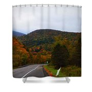 Mountain Road, Killington Vermont Shower Curtain