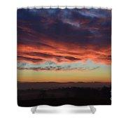 Mountain Road Sunrise 1 Shower Curtain
