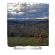 Mountain Skyline Shower Curtain