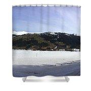 Mountain Snow World Long Shower Curtain
