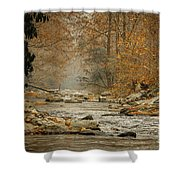 Mountain Stream With Tree Overhang #1 Shower Curtain