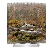 Mountain Stream With Vignette #2 Shower Curtain