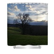 Mountain Sun Shower Curtain