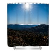 Mountain Sunburst Shower Curtain