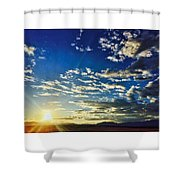Mountain Sunset 3 Shower Curtain