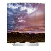 Mountain Sunset In New River Shower Curtain