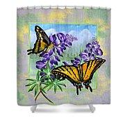 Mountain Swallowtail Shower Curtain