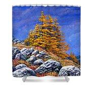 Mountain Tamaracks Shower Curtain