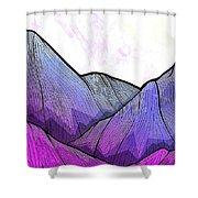 Mountain Texture Shower Curtain