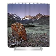 Mountain Textures And Light Shower Curtain