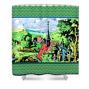 Mountain To Child And Lots Inbetween. Shower Curtain