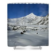 Mountain Tracks Shower Curtain