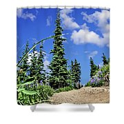 Mountain Trail - Olympic National Park Shower Curtain