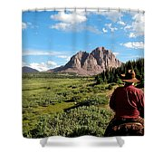 Mountain Trails Shower Curtain