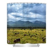 Mountain View After Rain Shower Curtain