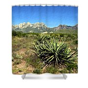 Mountain View Las Cruces Shower Curtain