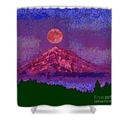 Mountain View Lit Fragmented Shower Curtain