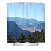 Mountain View On The Chief Joseph Highway Shower Curtain
