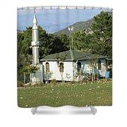 Mountain Village Mosque Shower Curtain
