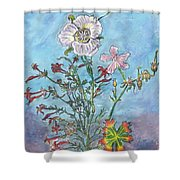 Mountain Wildflowers II Shower Curtain