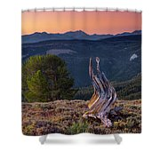 Mountain Wood Formation Shower Curtain