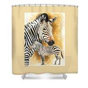 Mountain Zebra Shower Curtain