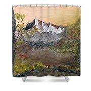 Mountains Afar Shower Curtain