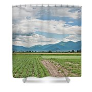 Mountains And Fields Shower Curtain